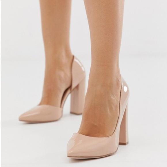 e45fd415da6 ASOS Wide Fit Walter d'orsay high heels in almond